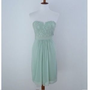 Adrianna Papell Strapless lace Green Dress Sz 2